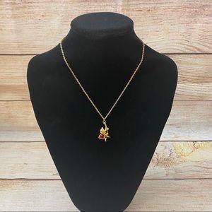 Vintage Disney Gold-Tone Necklace w/Monkey Charm